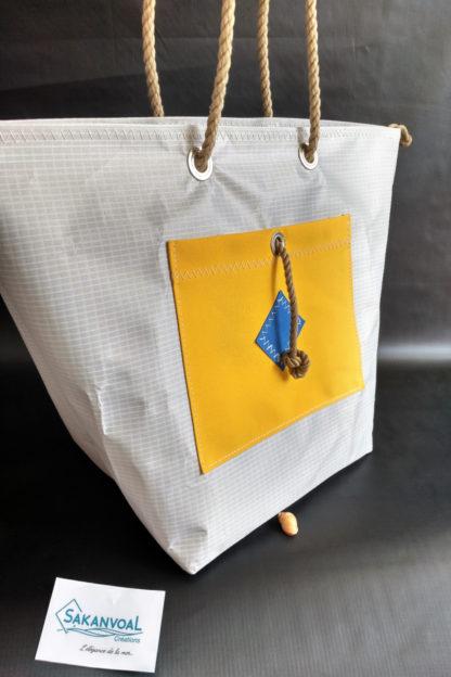 sac-de-plage IROISE L gris jaune près