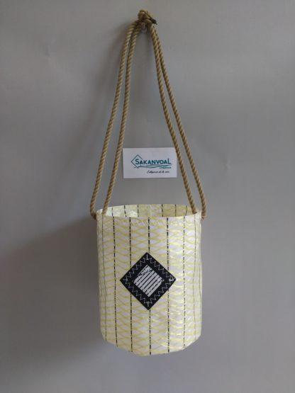 ROMEO petit sac forme seau porté épaule Sakanvoal Créations