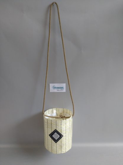 ROMEO petit sac forme seau porté bandoulière Sakanvoal Créations