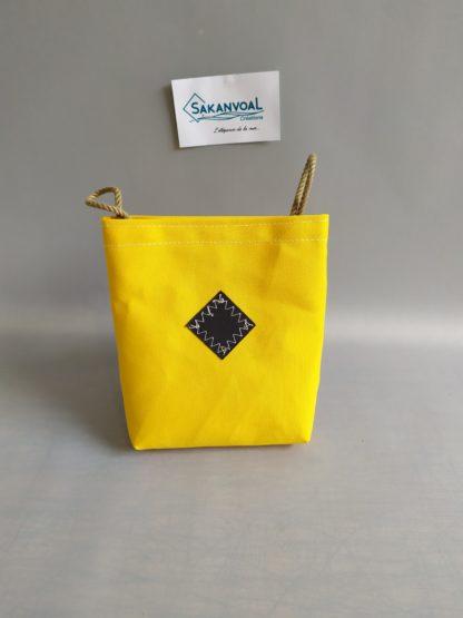 Poche amovible jaune /noire