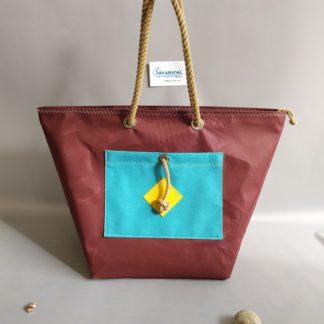 Sac de plage IROISE D marron/turquoise