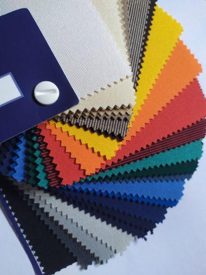 Palette de couleurs tissu polyester