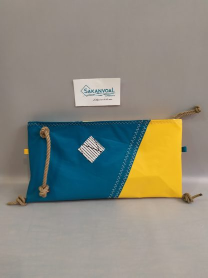 BERMUDES SKV Turquoise et jaune agrandie