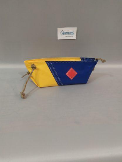 BERMUDES SKV jaune et bleu marine