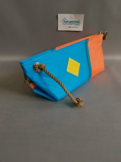 BERMUDES SKV bleu ciel et orange