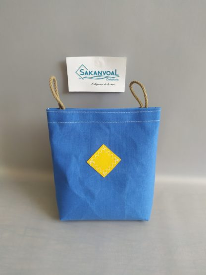 POCHE AMOVIBLE Bleu indigo/jaune