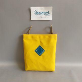 POCHE AMOVIBLE BANDOULIERE jaune turquoise