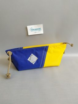 BERMUDES SKV bleu marine et jaune